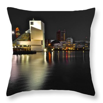 Cleveland Ohio Throw Pillow by Frozen in Time Fine Art Photography