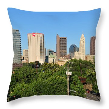 Columbus Ohio Skyline Photo Throw Pillow