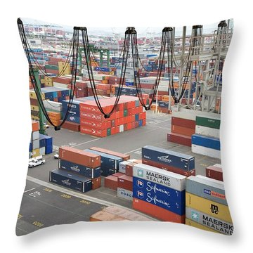 Cargo Containers Throw Pillows