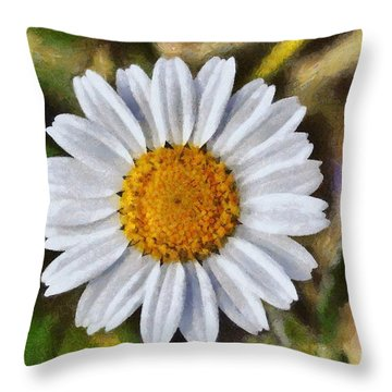 Daisy Throw Pillow by George Atsametakis