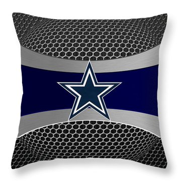 Dallas Cowboys Throw Pillow by Joe Hamilton