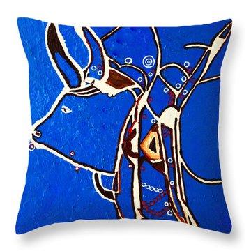 Dinka Livelihood - South Sudan Throw Pillow