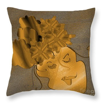 Dream Throw Pillow by Iris Gelbart