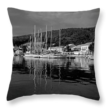 Fiskardo Village Throw Pillow by George Atsametakis