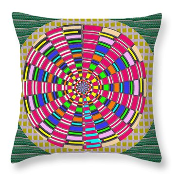 Focus Target Yoga Mat Chakra Meditation Round Circles Roulette Game Casino Flying Carpet Energy Mand Throw Pillow
