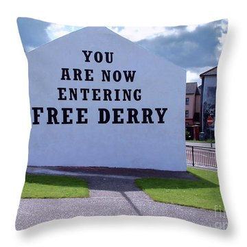 Free Derry Corner 4 Throw Pillow