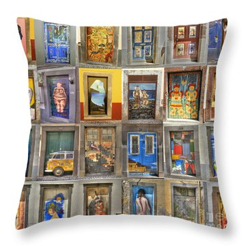 Funchal Door Art Throw Pillow