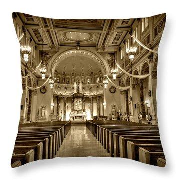 Holy Cross Catholic Church Throw Pillow by Amanda Stadther