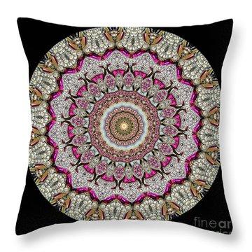 Kaleidoscope Colorful Jeweled Rhinestones Throw Pillow by Amy Cicconi