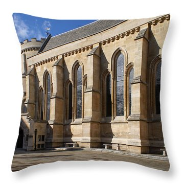 Knights Templar Temple In London Throw Pillow by Carol Ailles