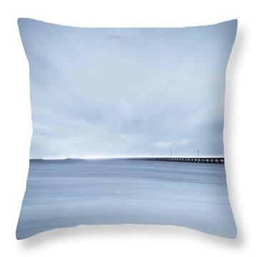 7 Mile Bridge 7 Throw Pillow