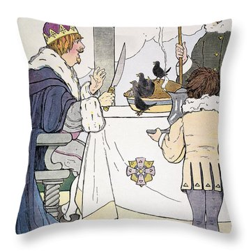 Mother Goose, 1916 Throw Pillow by Granger