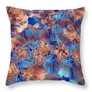 Ocean Jasper Throw Pillow by Bernardo Cesare