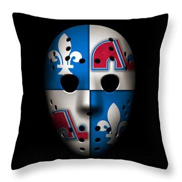 Quebec Nordiques Throw Pillow by Joe Hamilton