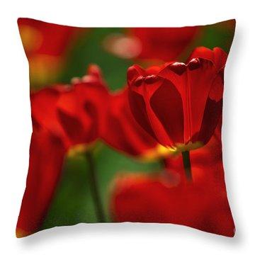 Yellow Tulip Throw Pillows