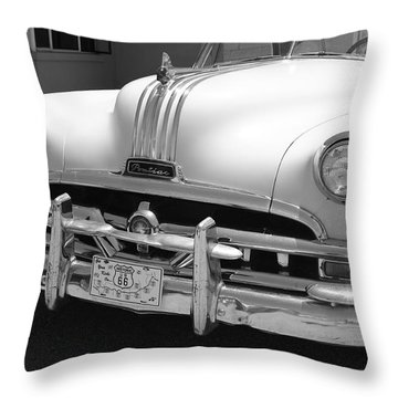 Route 66 - Classic Car Throw Pillow by Frank Romeo
