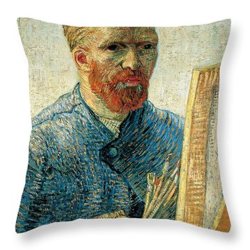 Self Portrait Throw Pillow by Vincent van Gogh