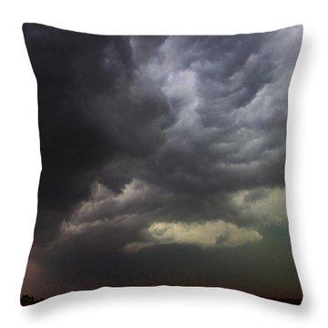 Severe Cells Over South Central Nebraska Throw Pillow