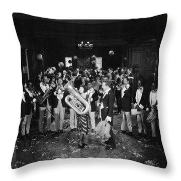 Silent Film Still: Music Throw Pillow by Granger