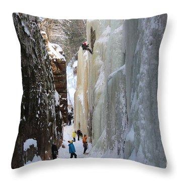 The Flume Gorge Nh Throw Pillow