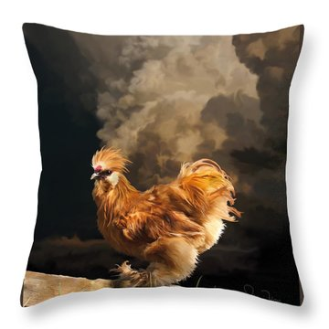 7. Thunder Buff Throw Pillow