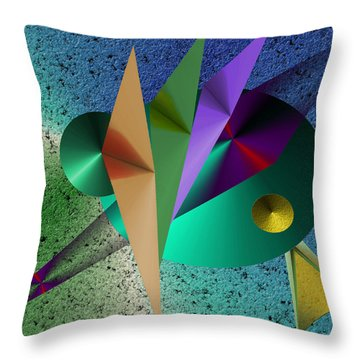 Abstract Bird Of Paradise Throw Pillow