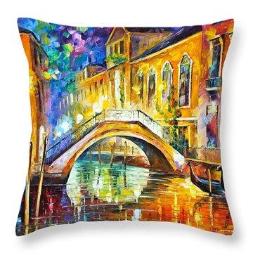 Venice Throw Pillow by Leonid Afremov