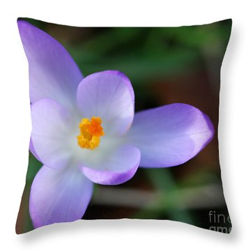 Vibrant Spring Crocus Throw Pillow