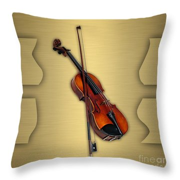 Violin Collection Throw Pillow by Marvin Blaine