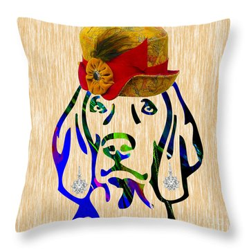 Weimaraner Collection Throw Pillow by Marvin Blaine