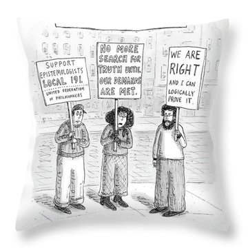 New Yorker December 3rd, 2007 Throw Pillow