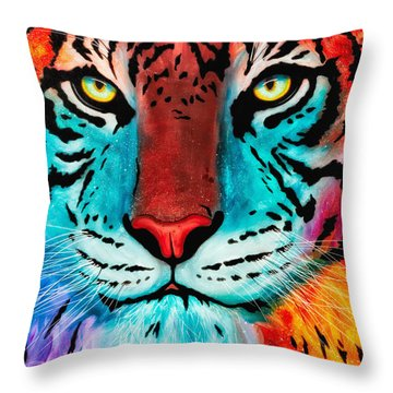 Throw Pillow featuring the painting Content by Dede Koll