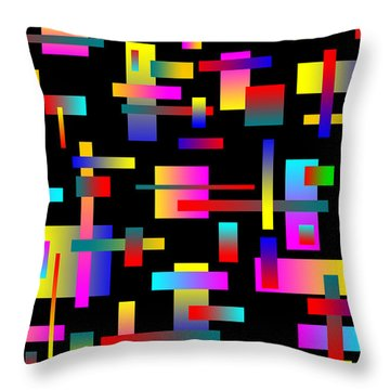 Throw Pillow featuring the photograph 70's Jazz by Mark Blauhoefer