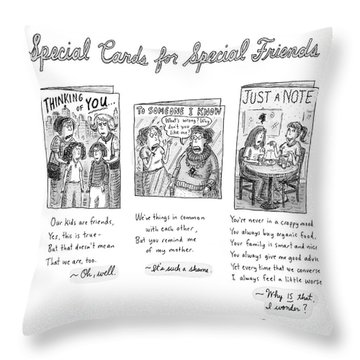 New Yorker February 7th, 2005 Throw Pillow
