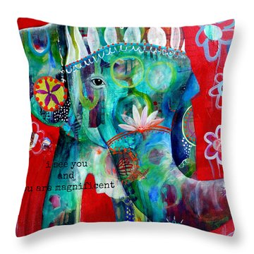 I See You  Throw Pillow by Tracy Verdugo