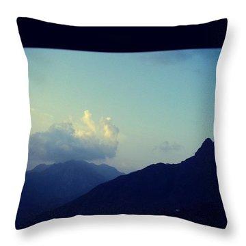 Mountains Of Yemen Throw Pillow