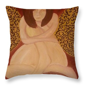 Leopard Print Angel Throw Pillow by Ty Mabry