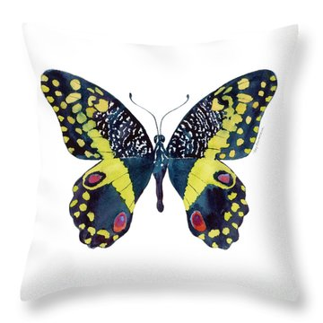 73 Citrus Butterfly Throw Pillow