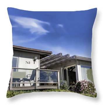 Throw Pillow featuring the digital art 743 Sunset Cliffs Boulevard by Photographic Art by Russel Ray Photos