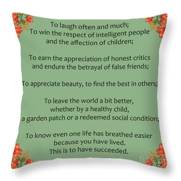 75- Ralph Waldo Emerson Throw Pillow