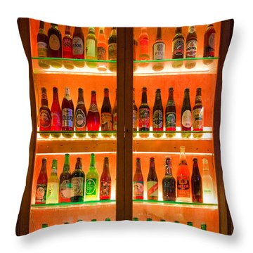 76 Bottles Of Beer Throw Pillow by Semmick Photo