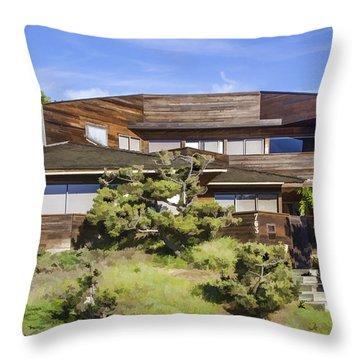 763 Sunset Cliffs Boulevard Throw Pillow