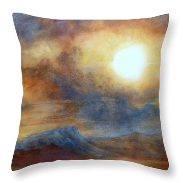 Earth Light Series Throw Pillow by Len Sodenkamp