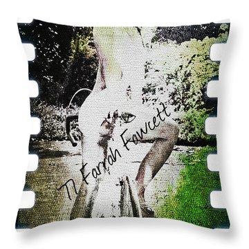 '77 Farrah Fawcett Throw Pillow
