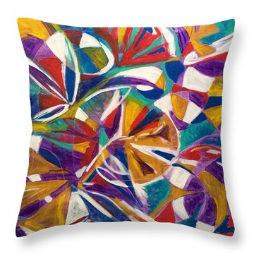 7th Chakra Meditation Throw Pillow
