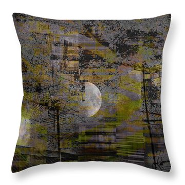 Throw Pillow featuring the digital art What Is Real Is Not The Exterior But The Idea, The Essence Of Things.  by Danica Radman