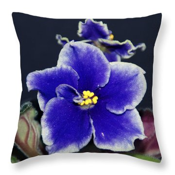 Throw Pillow featuring the digital art African Violet by Arthur Eggers