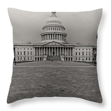 Throw Pillow featuring the photograph Capitol Building by Peter Lakomy