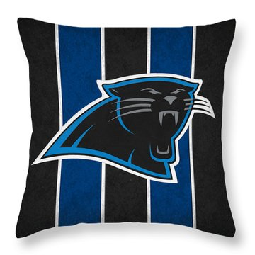 Carolina Panthers Throw Pillow by Joe Hamilton