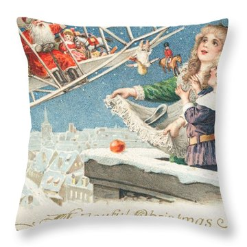 Christmas Card Throw Pillow by American School
